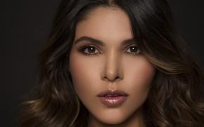Wallpaper hair, Lina Rivera, beauty, face, model, lips, eyes