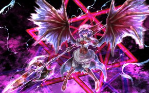 Picture girl, weapons, the game, anime, Touhou, Touhou