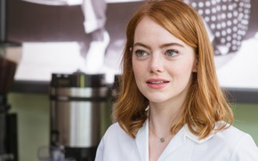 Wallpaper the film, frame, makeup, hairstyle, romance, redhead, bokeh, Emma Stone, Emma Stone, La-La Land, The ...