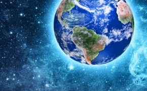 Picture stars, earth, planet