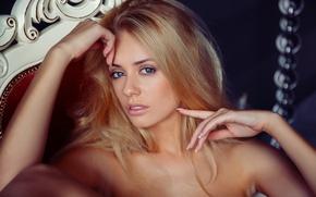 Picture look, face, hair, blonde, girl, model, Jennifer Mackay