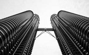 Picture the city, skyscrapers, Kuala Lumpur
