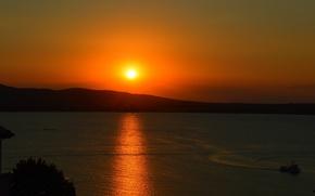 Picture Sunset, Nature, Sea, Panorama, Nature, Sunset, Sea, Panorama, Sea surface