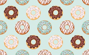Picture Background, Texture, Donuts