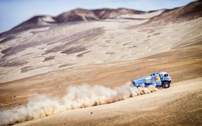 Picture Sand, Dust, Sport, Machine, Speed, Truck, Race, Master, Russia, Kamaz, Rally, Dakar, KAMAZ-master, Dakar, Rally, …