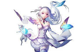 Picture girl, background, anime, Re: Zero kara hajime chip isek or Seikatsu
