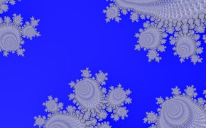 Picture Pattern, Spots, Blue background