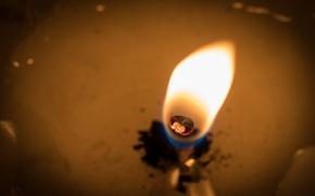 Wallpaper fire, candle, macro