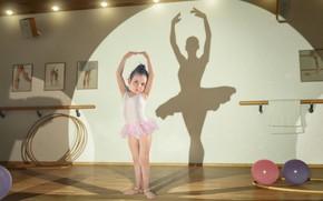 Picture shadow, girl, ballerina