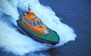 Picture sea, speed, boat, Pilot boat