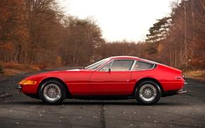 Picture Red, Color, Auto, Autumn, Retro, Machine, Classic, Car, 365, Sports car, Gran Turismo, Side view, …