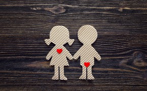 Picture love, heart, pair, love, lovers, heart, wood, romantic