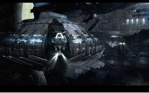 Picture spaceship, Alien: Isolation, Alien Isolation Environment, SEVASTOPOL Spaceport