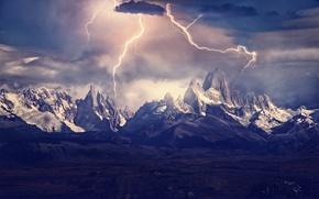 Picture light, mountains, zipper