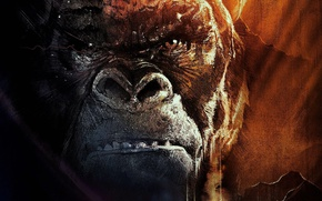 Picture Monster, Eyes, Mouth, Canvas, Kong: Skull Island, KING KONG.