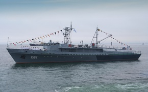 Picture ship, military, Parade, Pacific Fleet, torpedoman