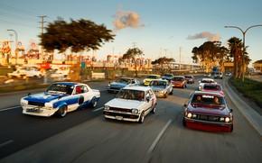 Picture Auto, Road, Machine, Nissan, Nissan, Lights, Toyota, Car, 2000, A lot, Skyline, Nissan Skyline, Celica, …