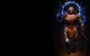 Wallpaper Alexander Khitrov, warrior, centaur, GaudiBuendia, art, fantasy