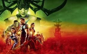 Wallpaper Jeff Goldblum, Hela, Tessa Thompson, God, Thor: Ragnarok, Thor 3, Odin, Grandmaster, Heimdall, Asgardian, Idris ...