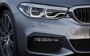 Picture headlight, wheel, the hood, BMW, grille, bumper, 540i, 5, M Sport, 2017, 5-series, G30