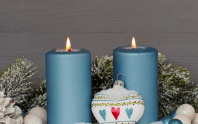 Picture candles, New Year, Christmas, merry christmas, decoration, xmas, holiday celebration