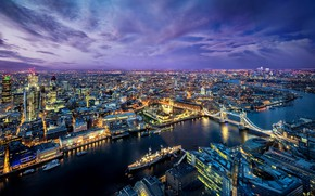 Picture river, ship, England, London, home, panorama, Thames