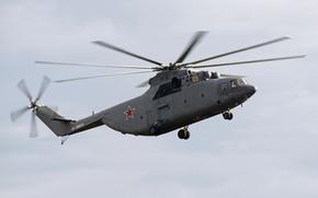 Wallpaper helicopter, heavy, Mi-26, troop