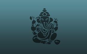 Picture abstraction, background, elephant, Ganesh