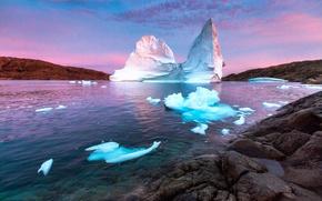 Picture stones, ice, iceberg