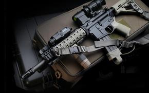 Picture gun, weapon, assault rifle, LaRue, M4 Carbin, LaRue M4