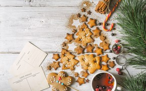 Picture decoration, New Year, cookies, Christmas, happy, Christmas, New Year, Merry Christmas, Xmas, cookies, decoration, gingerbread, …