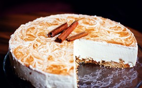 Picture cake, cream, sweet