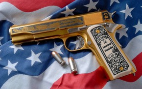 Wallpaper Gun, Pistol, Weapon, Military