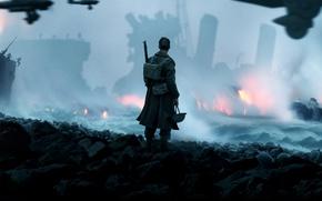 Picture cinema, fire, flame, gun, weapon, war, man, movie, film, pearls, spark, seifuku, unifor, Dunkirk