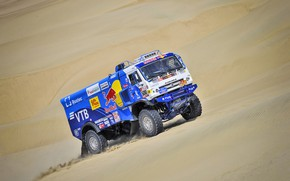 Picture Sand, Machine, Truck, Race, Master, Russia, 500, Kamaz, Rally, Dakar, Dakar, Rally, KAMAZ, The roads, …