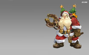 Picture holiday, new year, Santa Claus, Ben Zhang, Santaclad Torbjörn skin concept