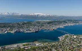 Picture bridge, Norway, panorama, Norway, Tromso