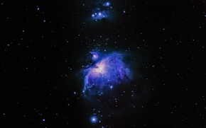Wallpaper nebula, stars, space