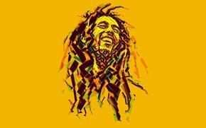 Picture music, Bob Marley, Bob Marley, reggae, low poly