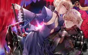 Picture girl, guy, two, saber, saber age, the saber, fate/grand order