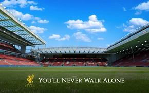 Picture wallpaper, sport, stadium, football, Liverpool FC, Anfield Road