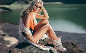 Picture shorts, legs, David Olkarny, Green lagoon