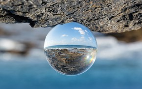Picture glass, visual effect, glass ball