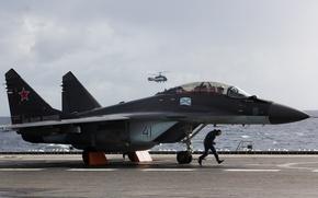 Wallpaper fighter, deck, multipurpose, MiG-29/35