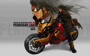 Picture motorcycle, orange, Faid Hamzi, Sea_Tiger_by_bayanghitam