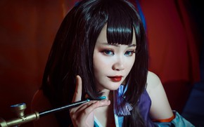 Picture face, style, makeup, girl Oriental