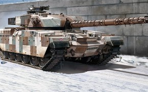 Picture main battle tank, the leader, Chieftain, Chieftain, Mk V