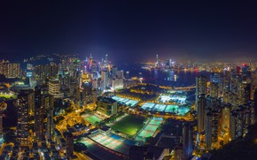 Picture field, the city, sport, Hong Kong, China