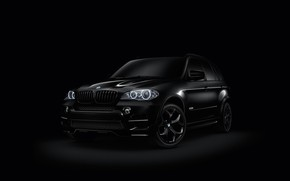 Wallpaper black, BMW, car
