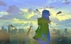 Picture nature, anime, girl